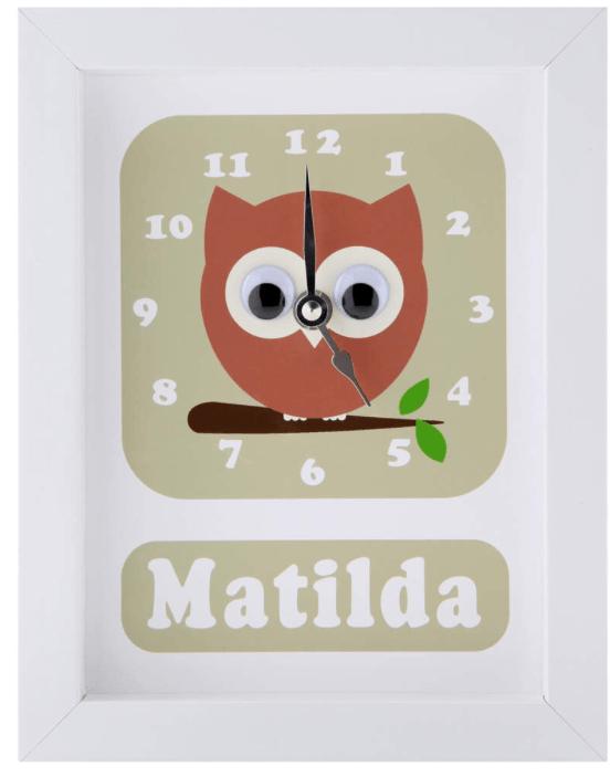 Stripey Cat personalised clock