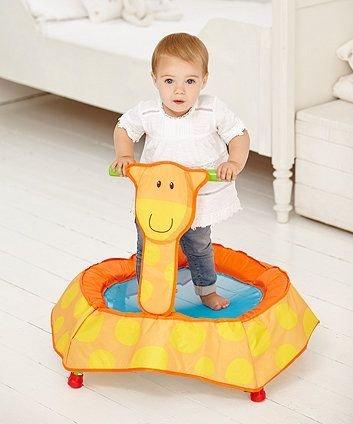 Giraffe trampoline first birthday gift idea