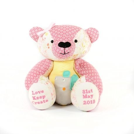 Love Keep Create Keepsake Bear Made From Baby Clothes