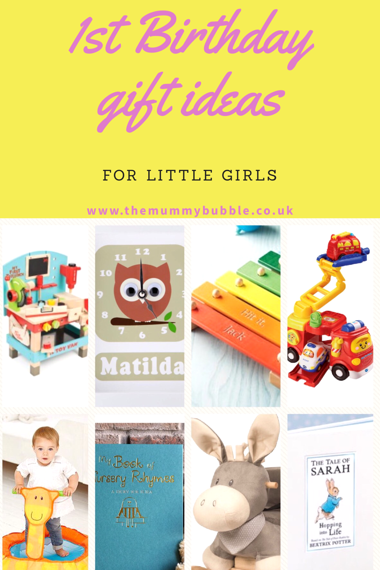 First birthday gift ideas for a little girl