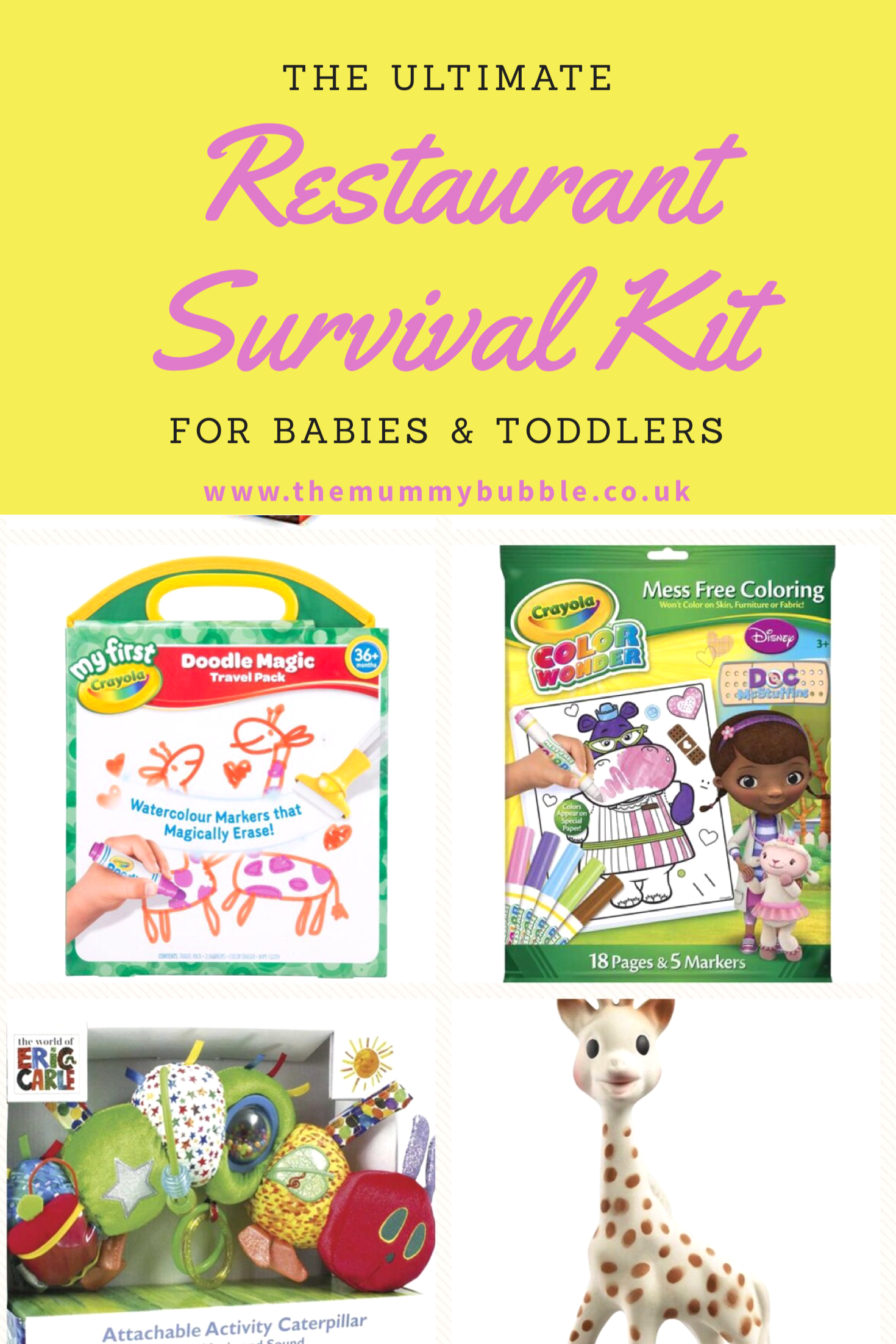 The ultimate dining out survival kit for babies and toddlers