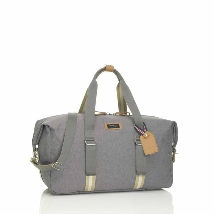Grey Storksak duffle changing bag