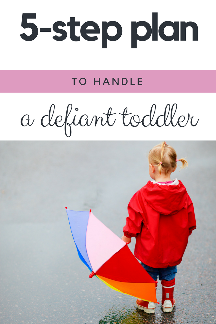 5 step action plan to handle a defiant toddler