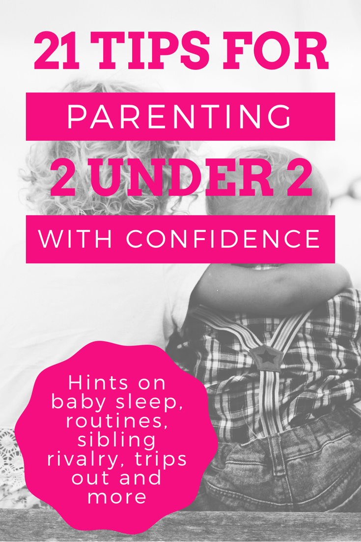 21 tips for parenting two children under age two in the first six months