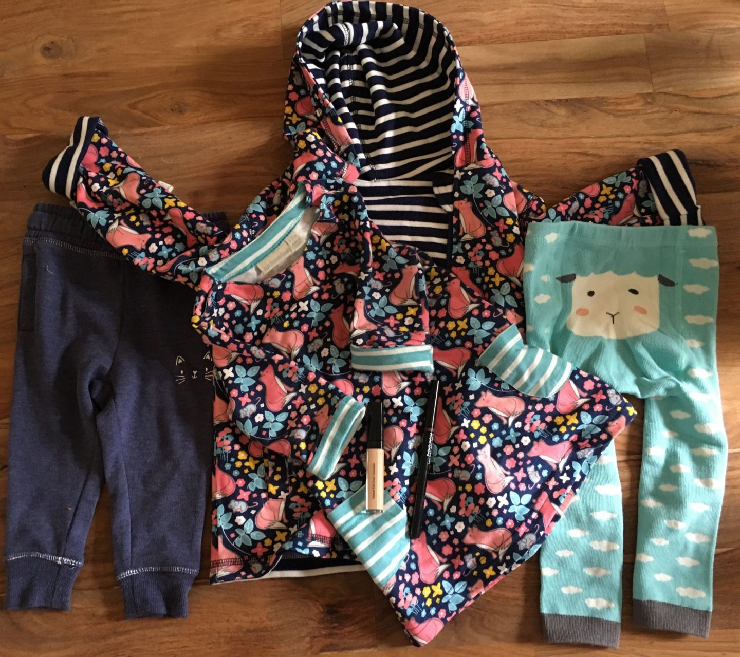 Baby clothes from JoJo Maman Bebe, Mothercare, Oliviers Boutique, and makeup from Bobbi Brown