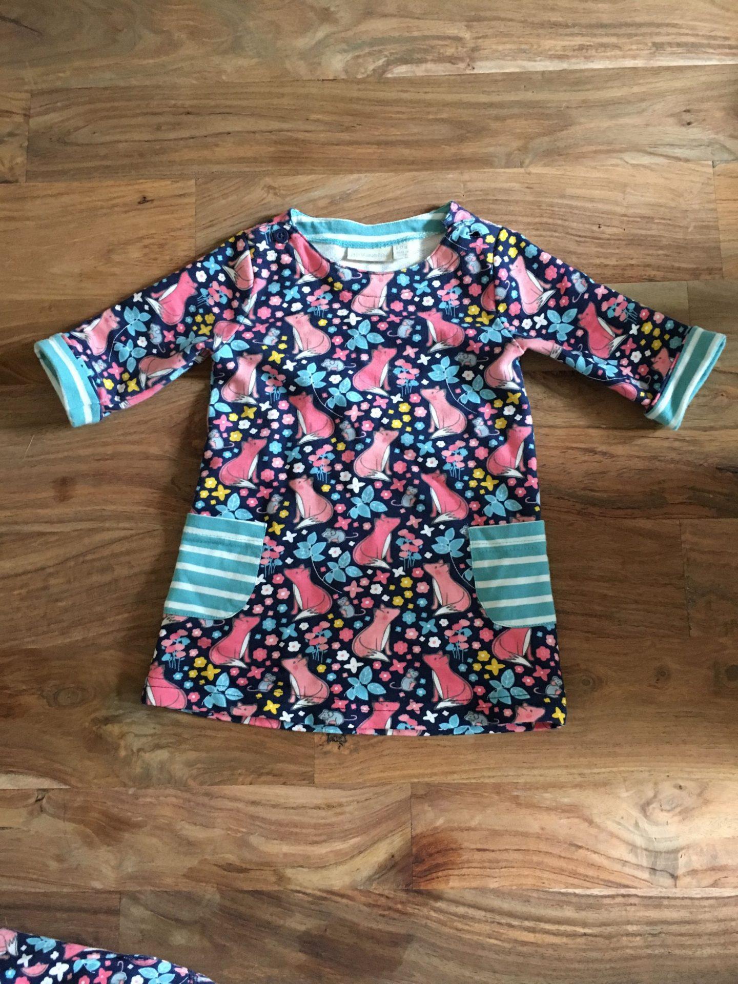 Fox print dress for baby girls by JoJo Maman Bebe