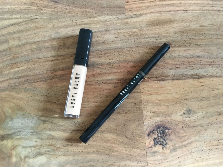 Bobbi Brown concealer and eyebrow pencil