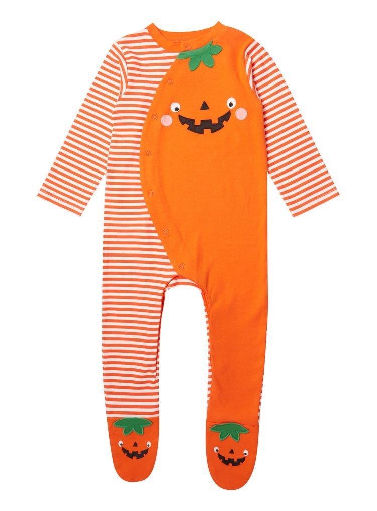 Halloween pumpkin onesie for babies