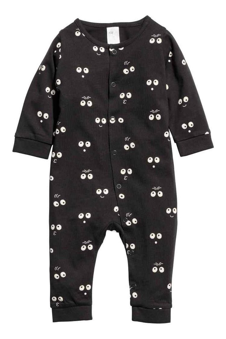 Halloween baby onesie in black