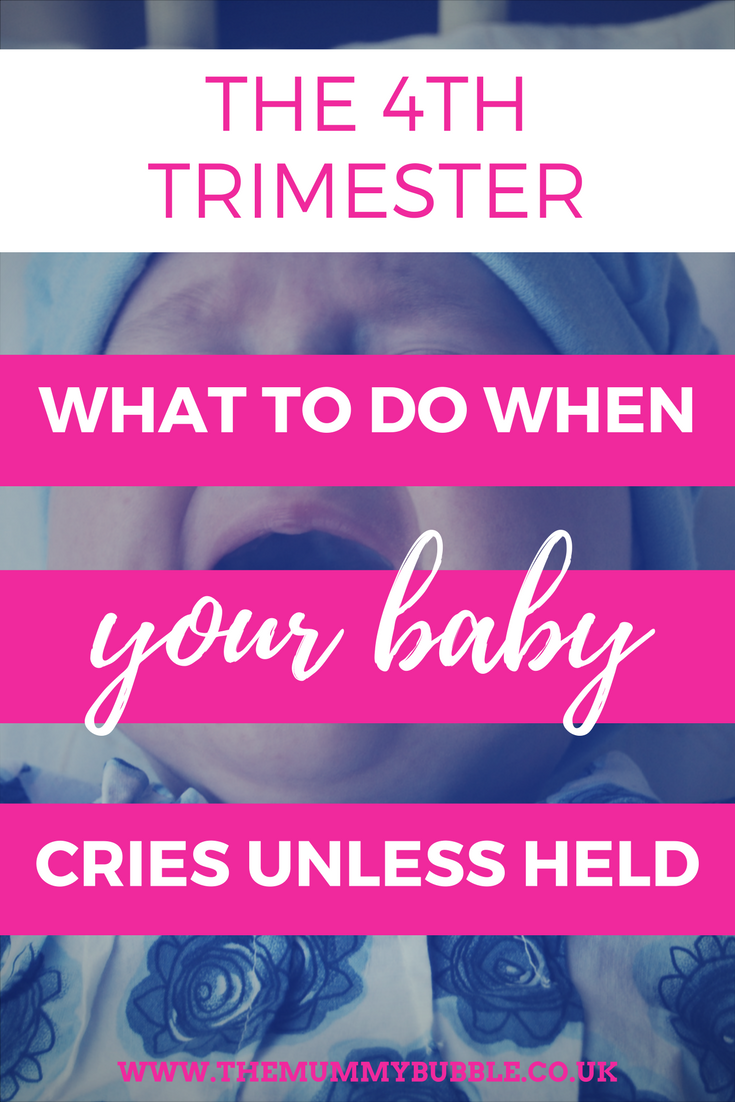 The 4th trimester: what to do when your baby cries when put down #parenting #newborn