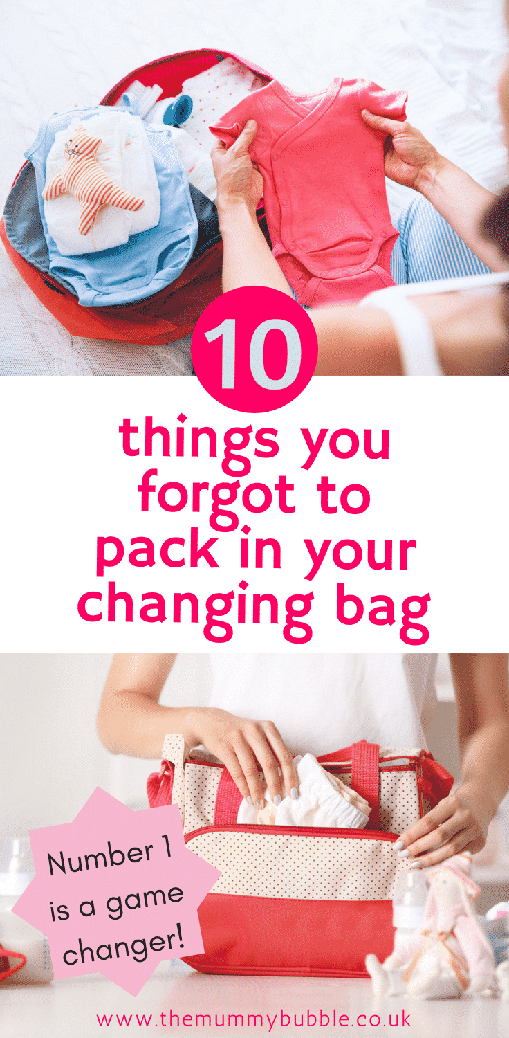 10 changing bag essentials you forgot to pack for new mams and babies