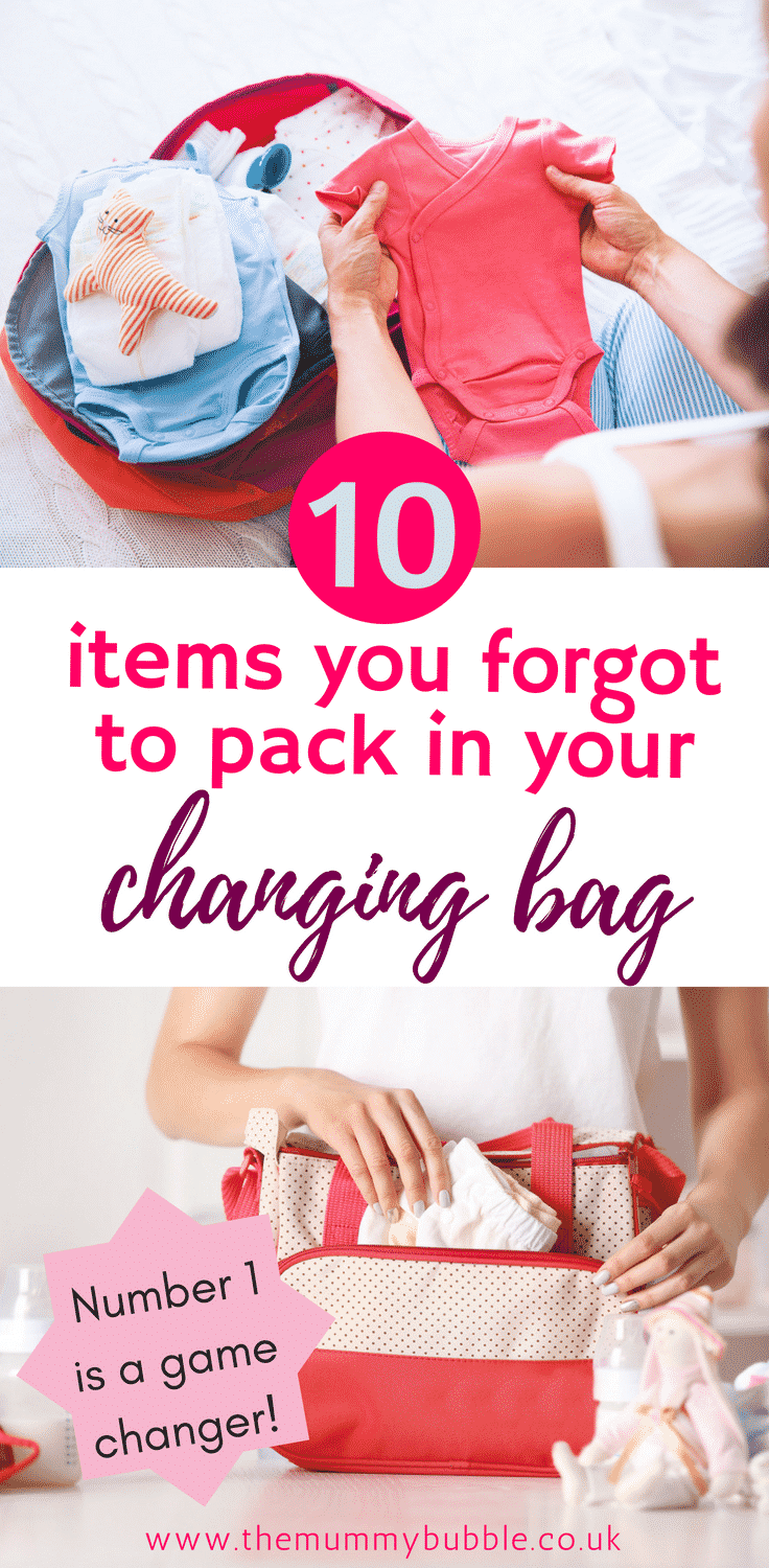 10 things you forgot to pack in your baby changing bag