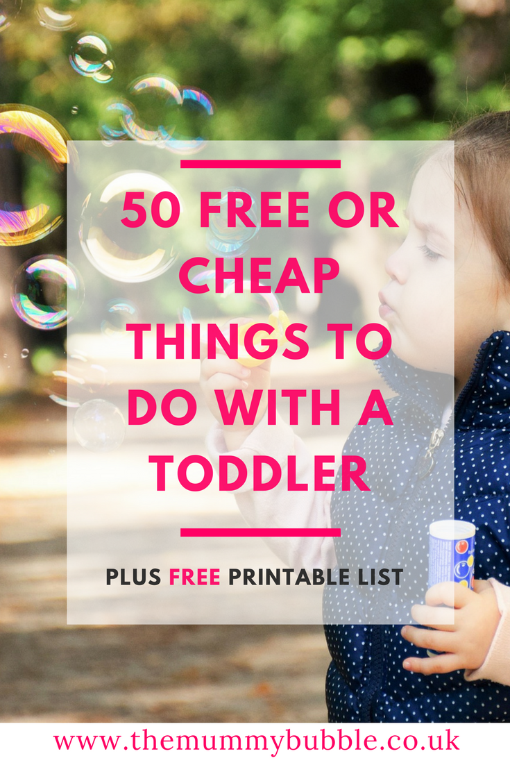 50 free or cheap things to do with a toddler