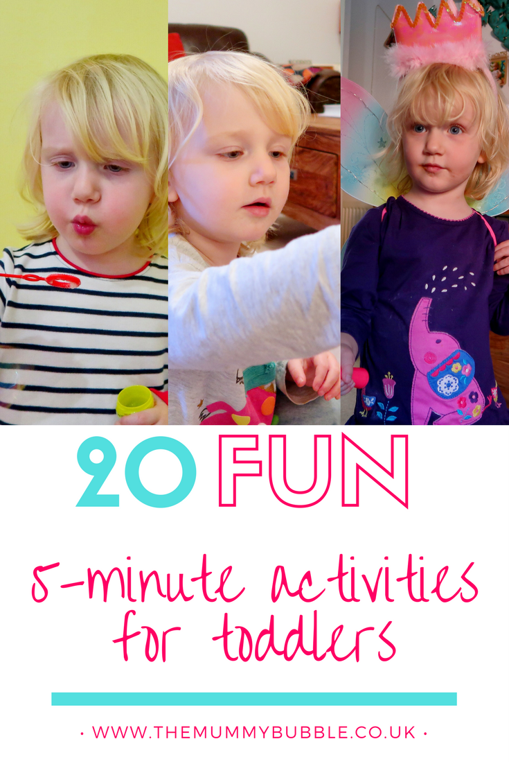 20 fun five-minute activities for toddlers