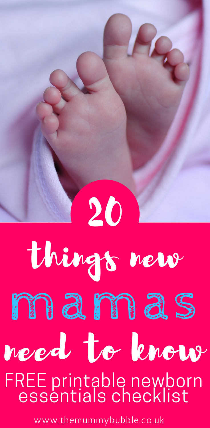 20 things new mamas need to know