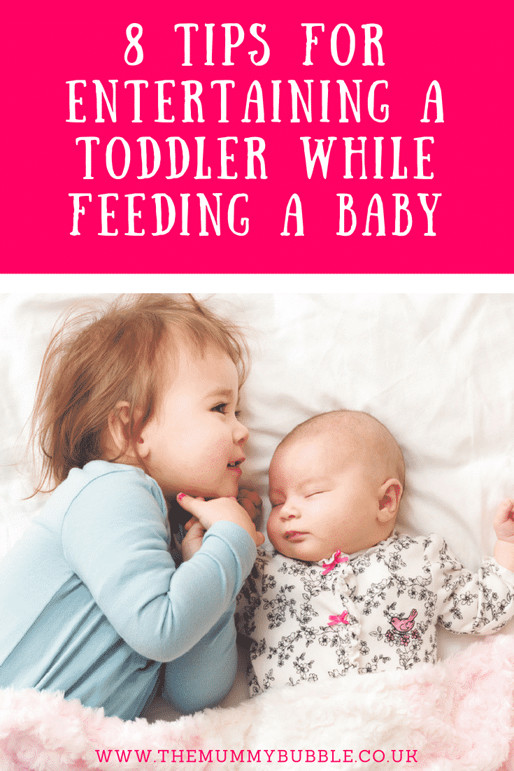 8 tips for entertaining a toddler while feeding a baby