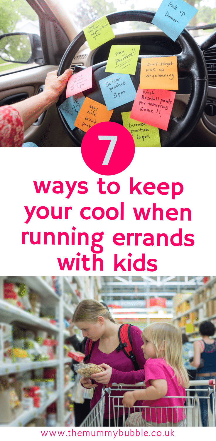 7 ways to keep your cool when running errands with kids - how to cope when taking young children to the shops
