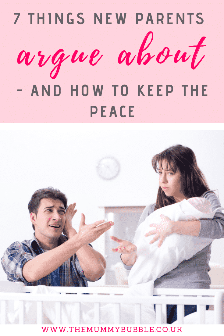 7 things new parents argue about and how to keep the peace