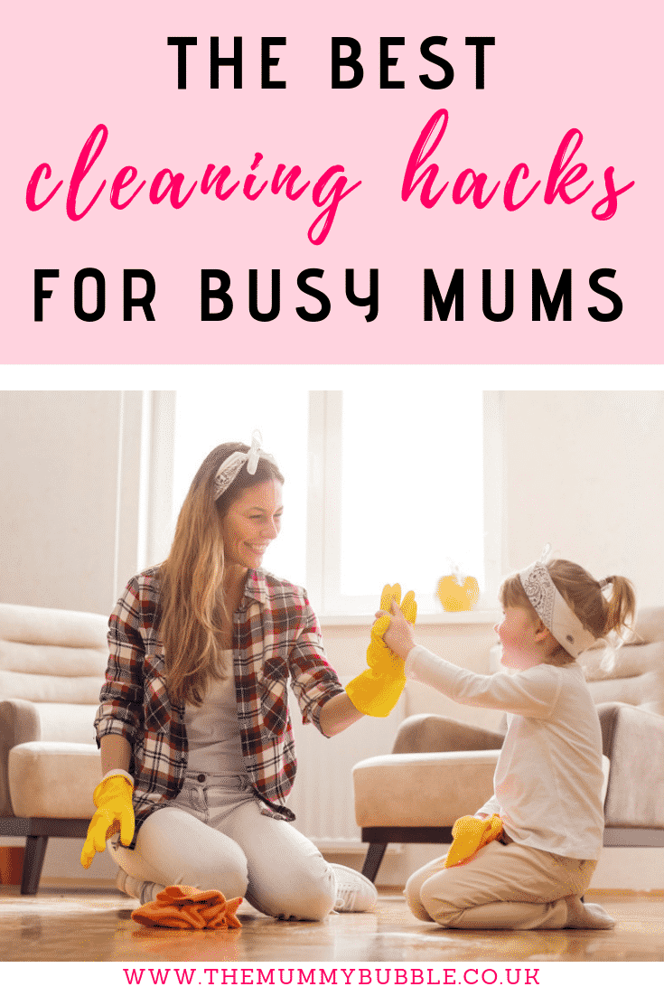 Cleaning hacks for busy mums
