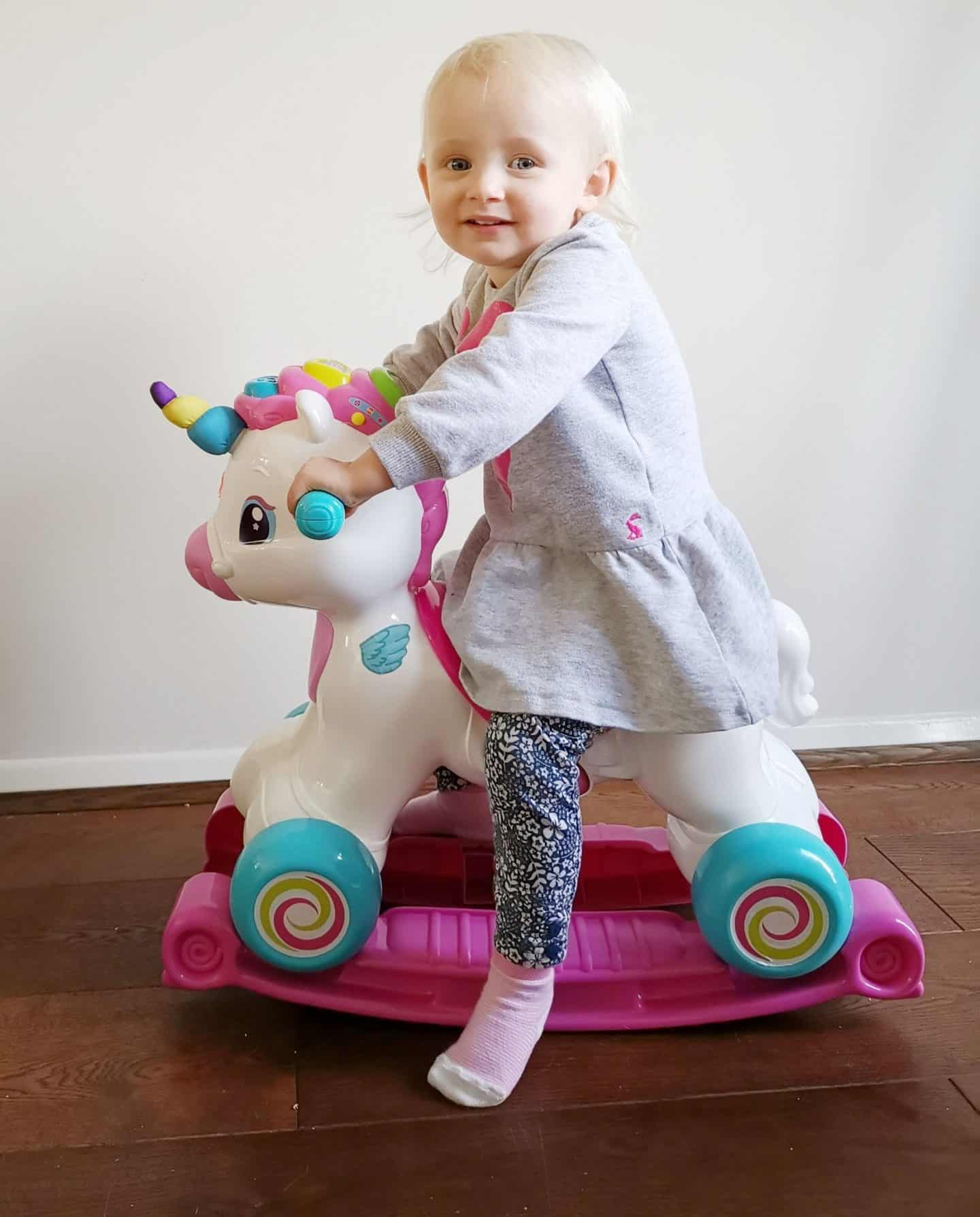 Baby Clementoni ride on unicorn