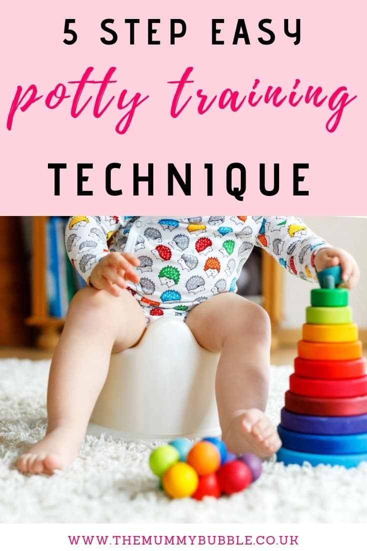 Easy potty training technique for toddlers - 5-step solution to help you potty train your toddler gently