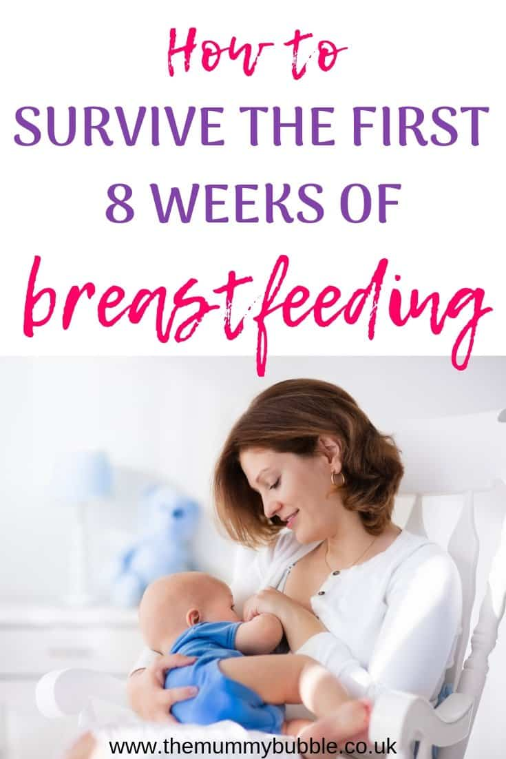 How to survive the first 8 weeks of breastfeeding