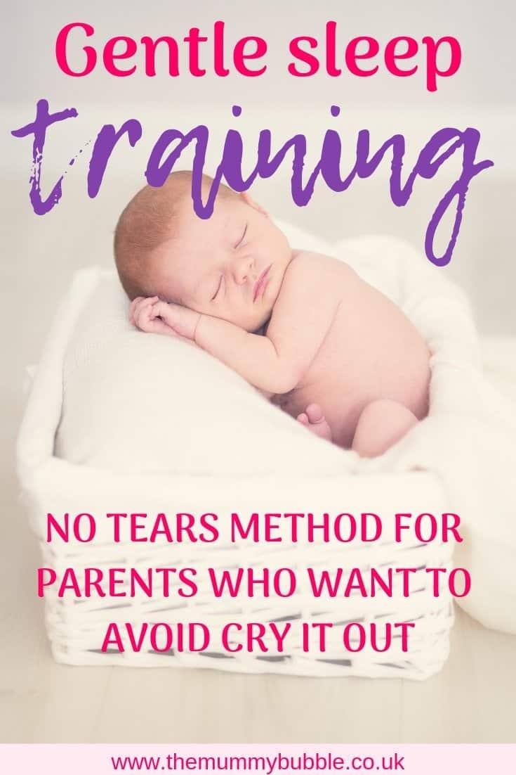 Gentle sleep training - no tears method for babies