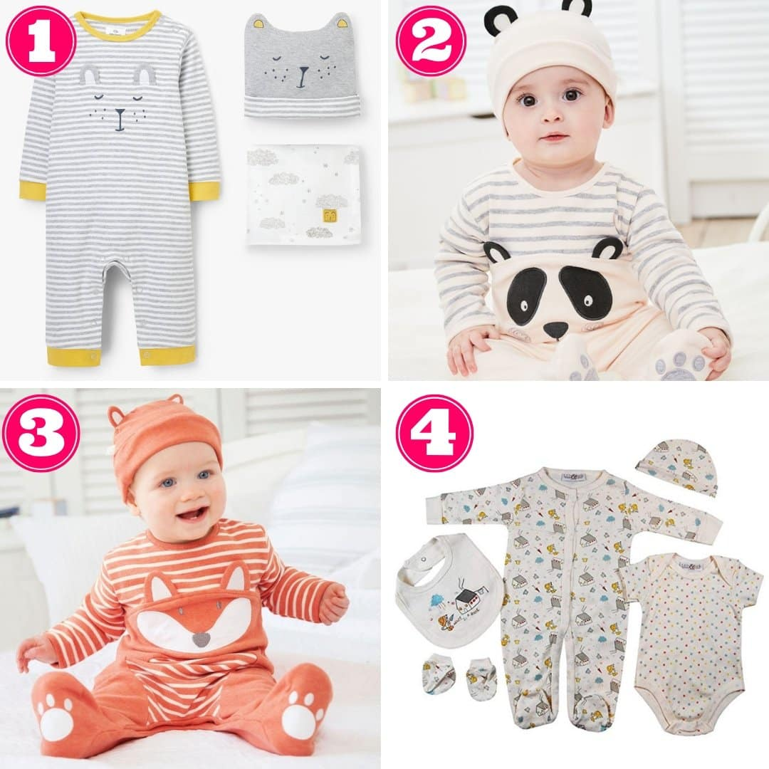 Gender neutral baby clothing sets