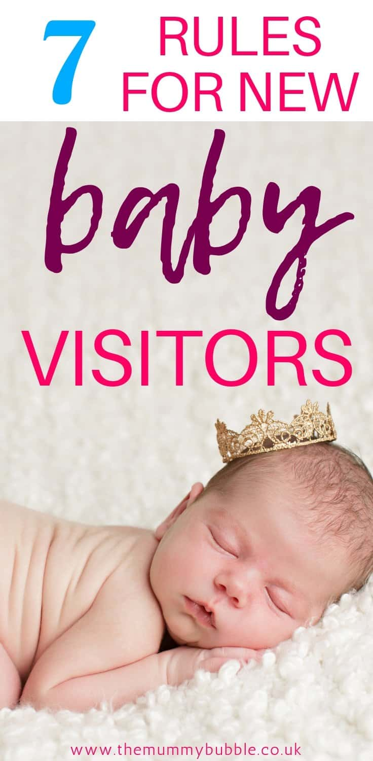 7 rules for new baby visitors