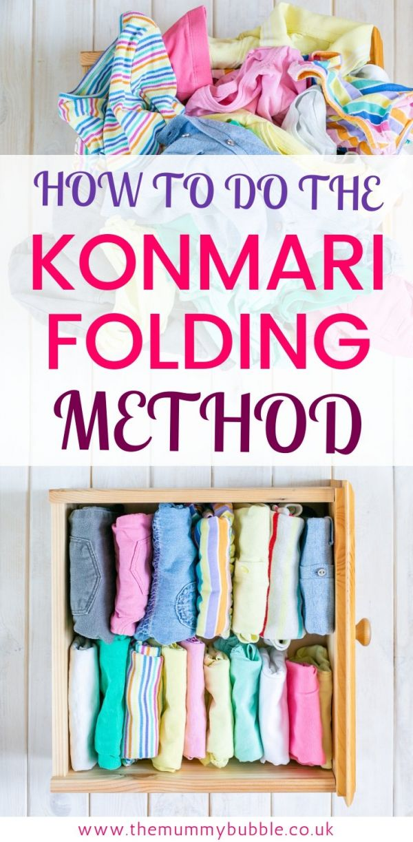 HOW TO DO the KonMari folding method