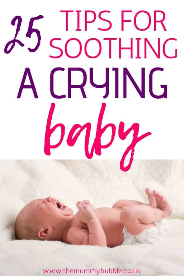 25 tips for soothing a crying baby