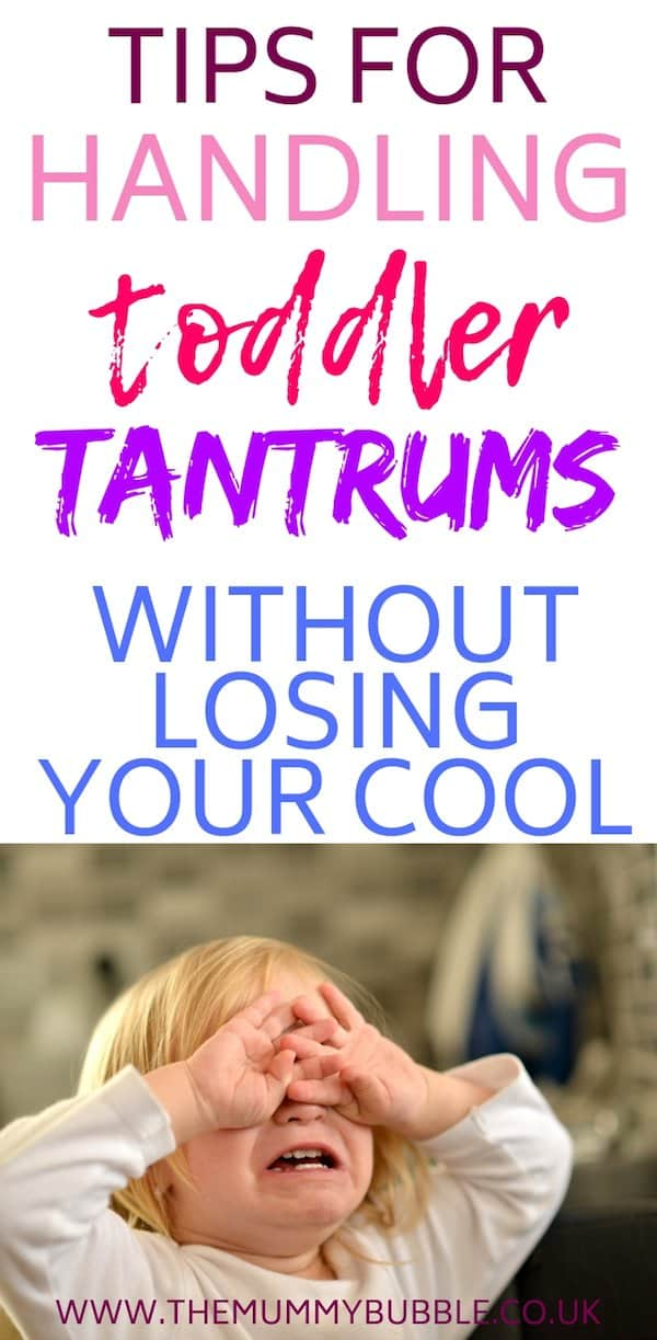 handle toddler tantrums without losing your cool