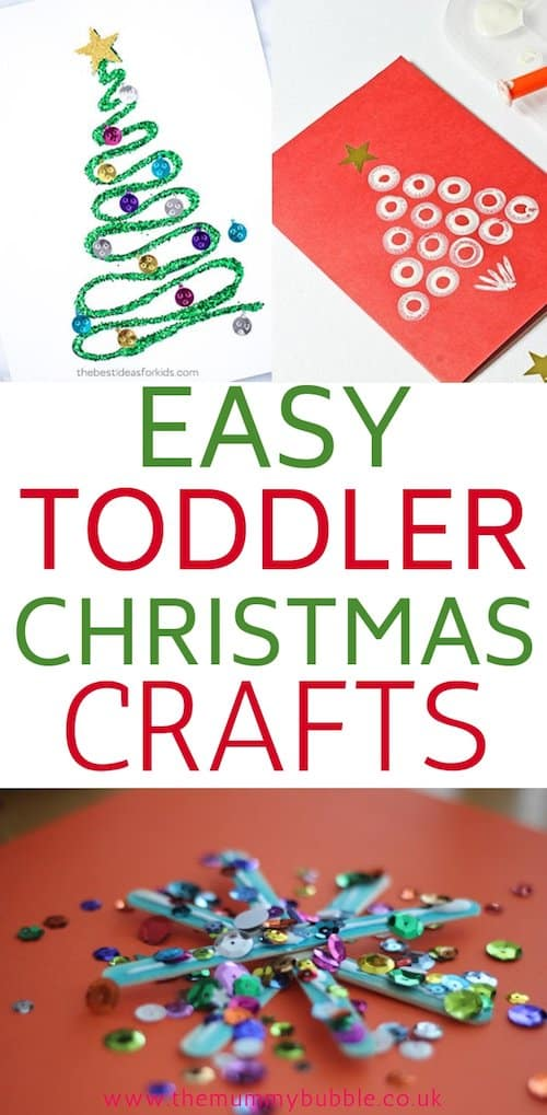 Easy toddler Christmas crafts