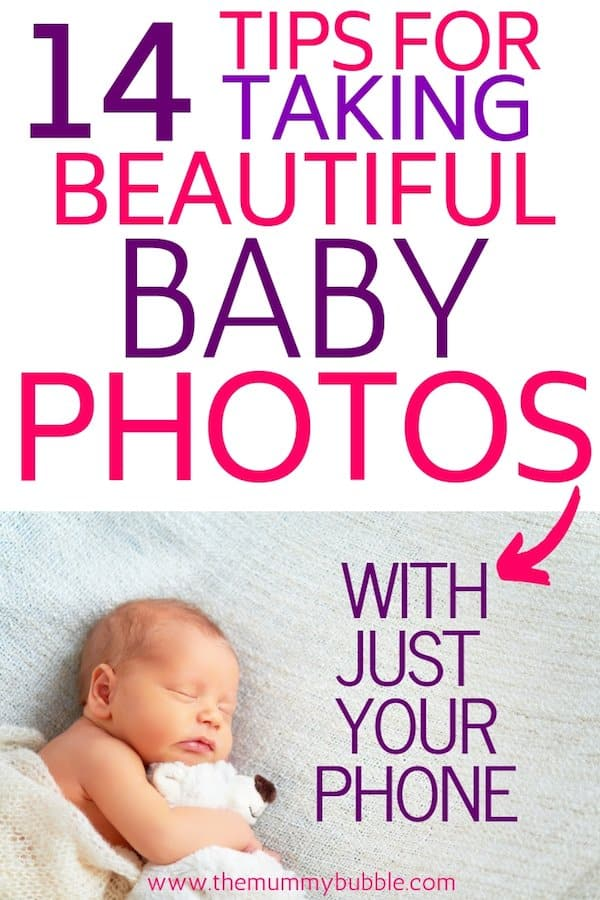 Tips for taking beautiful baby photography