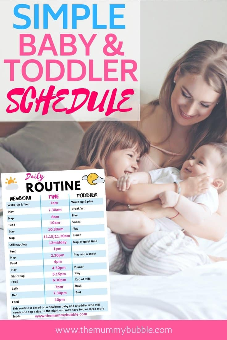 Simple baby and toddler schedule