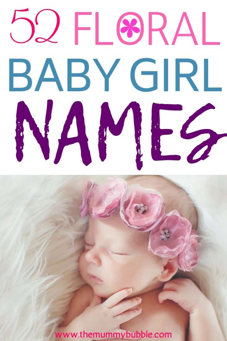 Floral baby girl name ideas