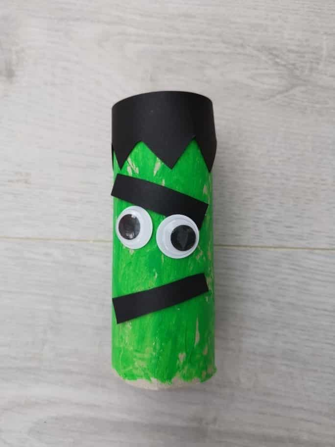 Halloween Frankenstein's monster toilet roll craft