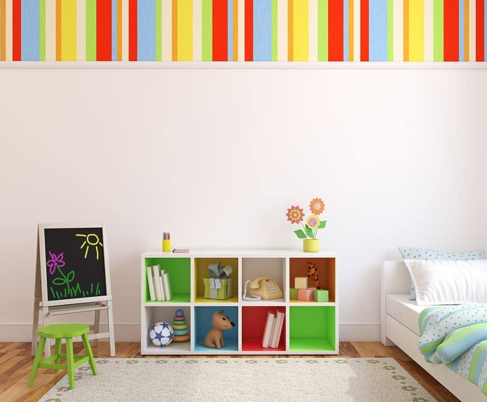 A bright and cheerful baby nursery