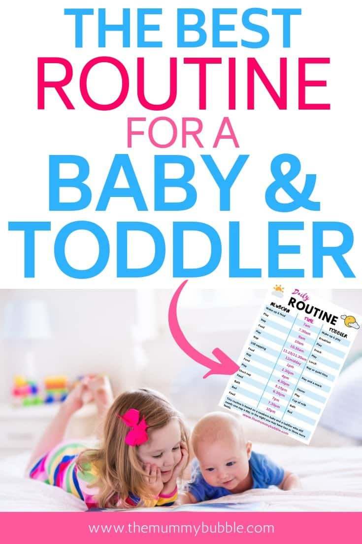 Routine for a baby and toddler