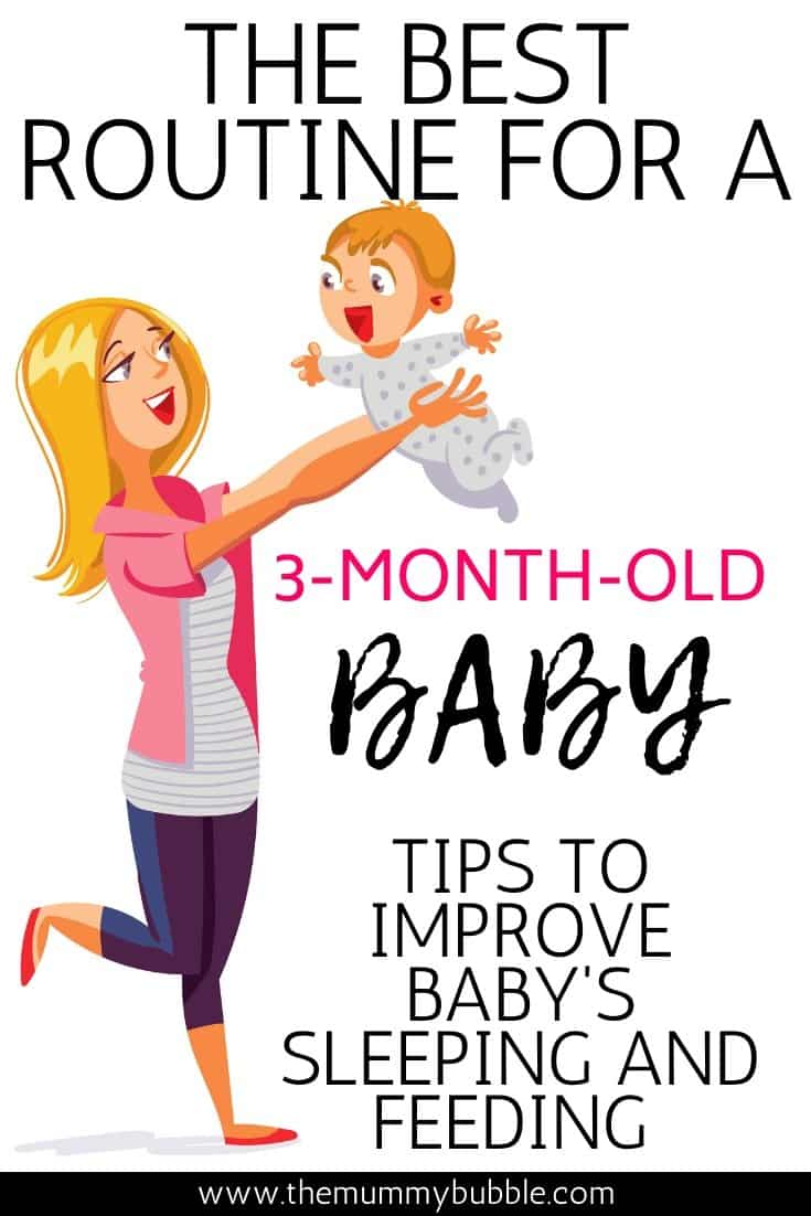 The best routine for a 3-month-old baby
