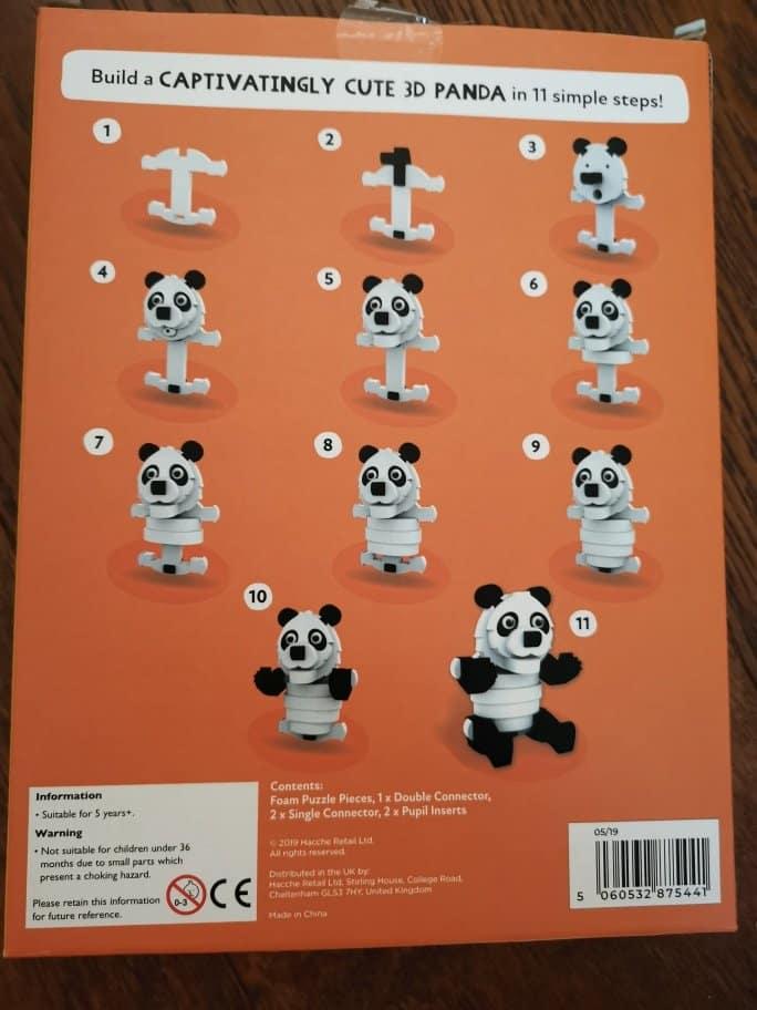 Milly & Flynn panda 3D foam puzzle