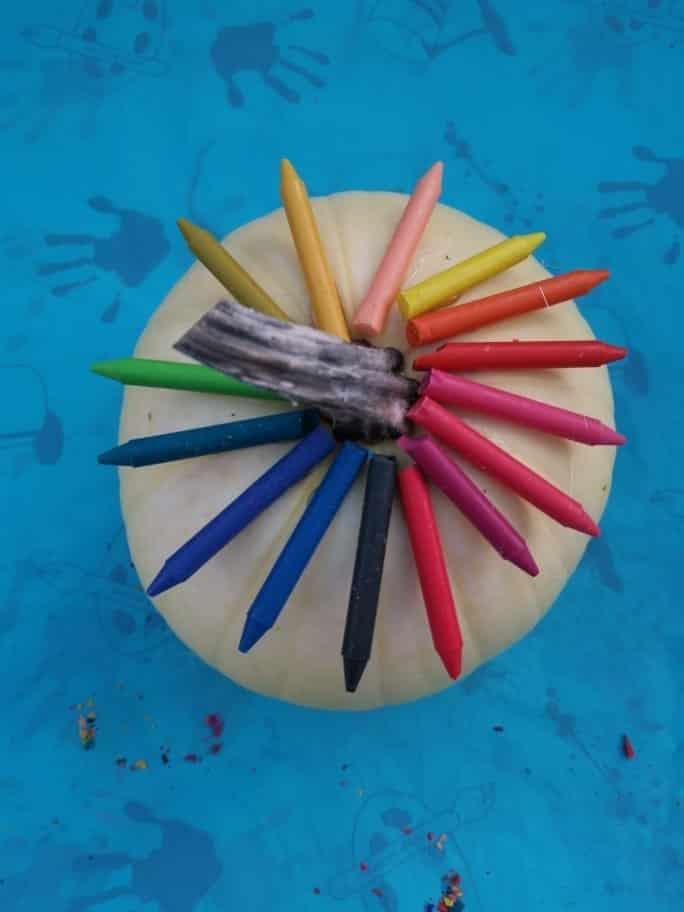 Halloween pumpkin crayon rainbow