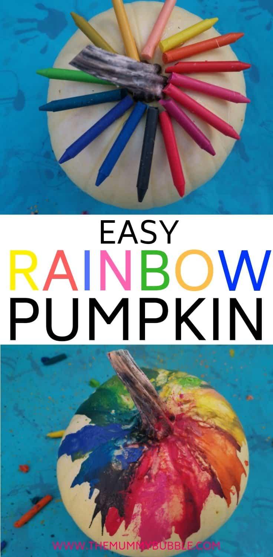 How to make a rainbow pumpkin