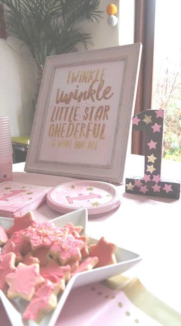Twinkle twinkle little star birthday party theme for a first birthday