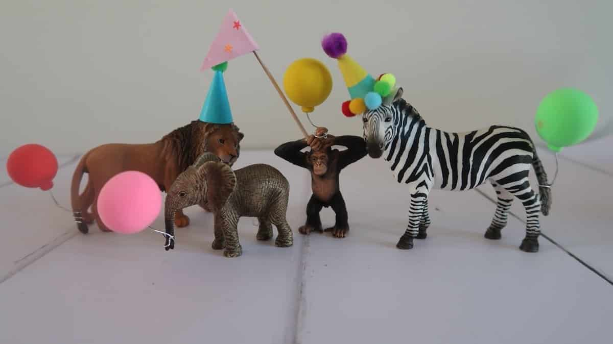 DIY party hats toy animals