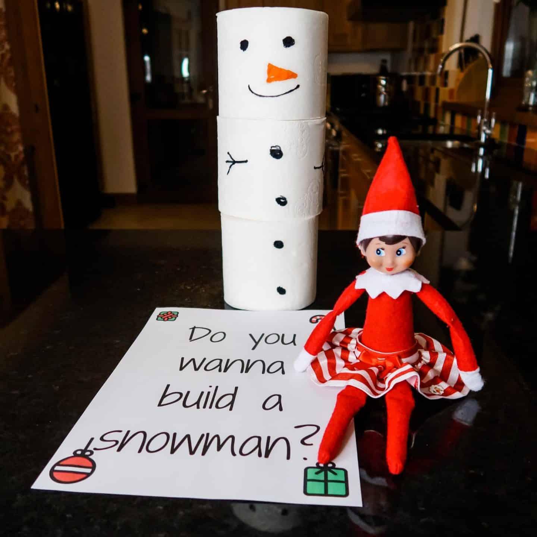 Elf on the shelf snowman toilet rolls