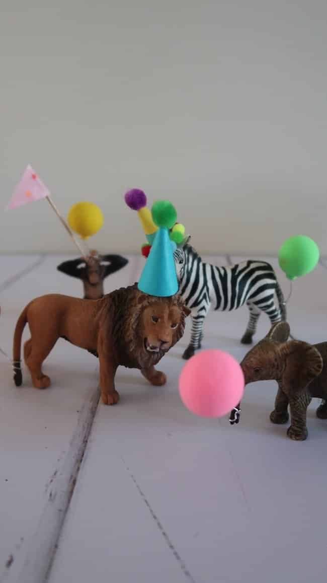 Plastic party animal cake topper