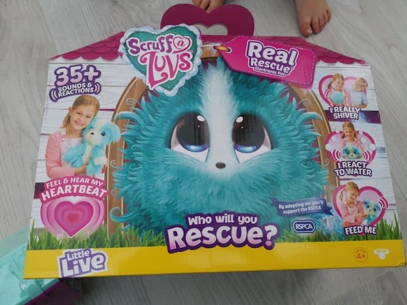 Scruff-A-Luvs Real Rescue toy in the box