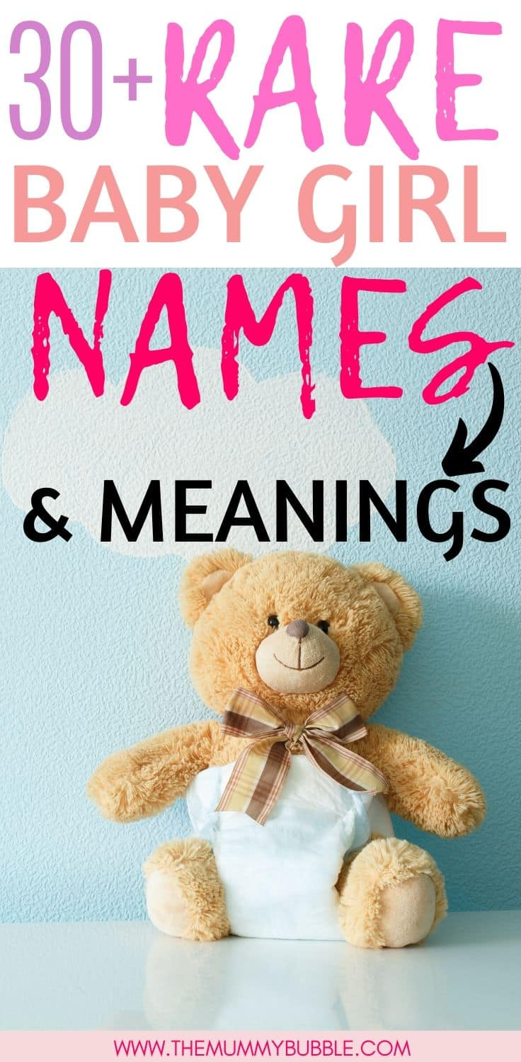 30 rare baby girl names and their meanings