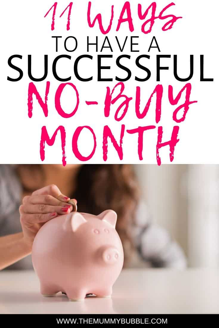 Tips for having a successful no-buy month